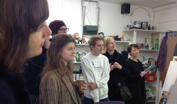 Platform Alumni Artists on the studio tour