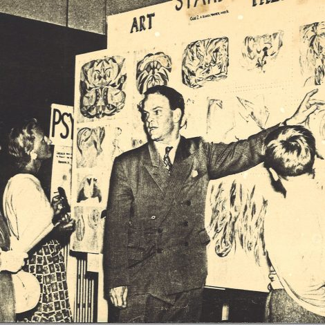 Dr Vawdrey speaking at a public event, image courtesy of his family