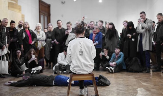 Cally Spooner performance 'The Critic as Artist', 2017. Photo: Stuart Whipps