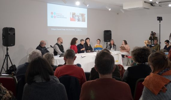 Image: Dialogues - Towards Change: Artist Placemaking at Phoenix Art Space. Photo: Miles Umney, courtesy CVAN South East